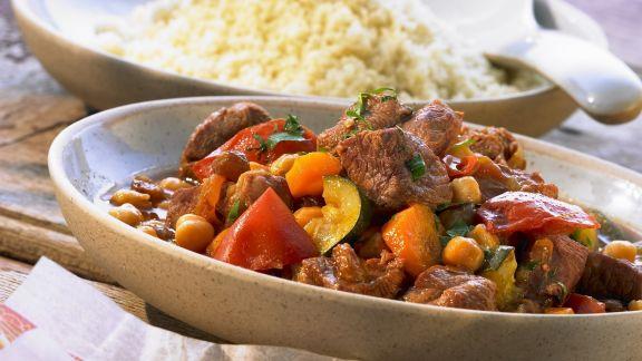 Rezept: Lammeintopf mit Kichererbsen und Safran dazu Couscous