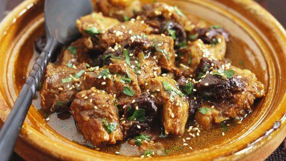 Rezept: Lammfleisch in der Tajine
