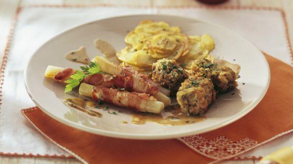 Rezept: Lammfleisch in Kräutermantel mit Schwarzwurzeln