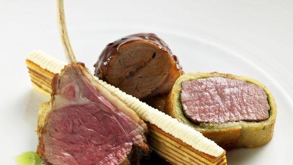 Rezept: Lammfleisch mit Baumkuchen