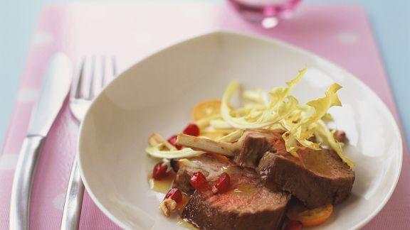 Rezept: Lammkarree mit Granatapfel