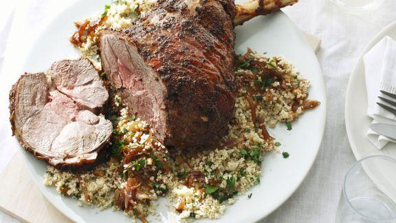 Rezept: Lammkeule auf Couscous