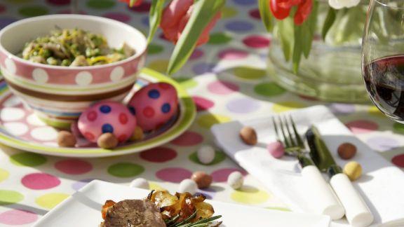 Rezept: Lammkeule mit Gemüse