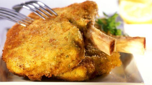 Rezept: Lammkoteletts in Panade