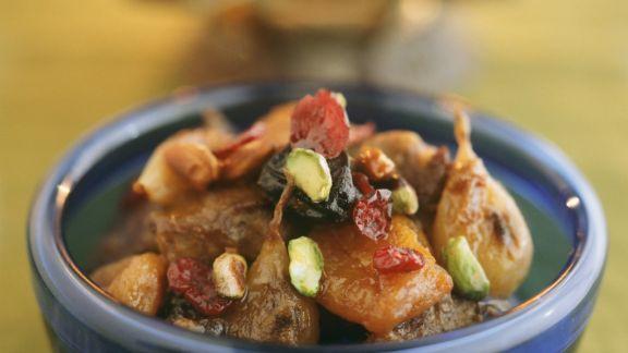 Rezept: Lammragout mit Früchten nach marokkanischer Art
