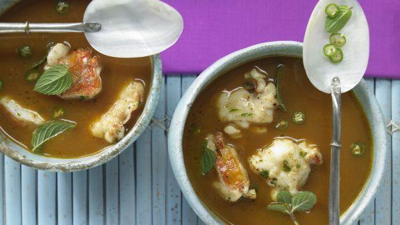Rezept: Langusten-Kokos-Suppe