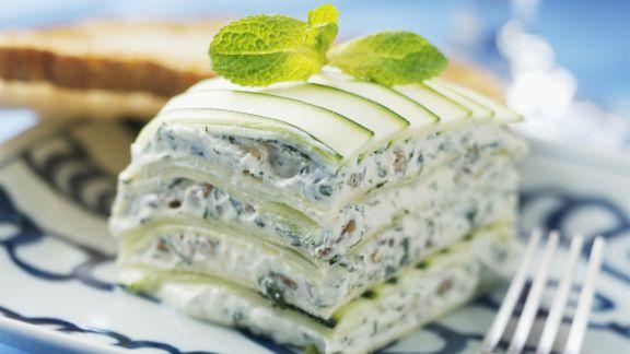 Rezept: Lasagne aus Zucchini und Frischkäse