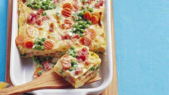Rezept: Lasagne mit Gemüse und Speck