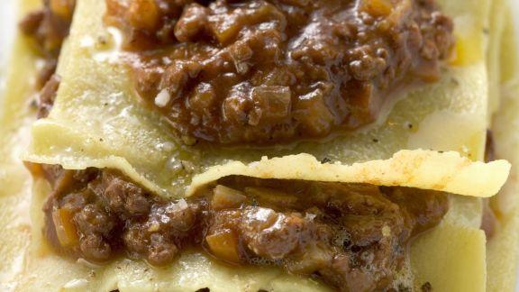Rezept: Lasagne mit Hackfleischsoße