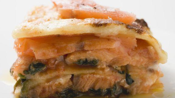 Rezept: Lasagne mit Lachs