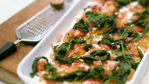 Rezept: Lasagne mit Lachs und Spinat