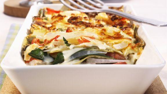 Rezept: Lasagne mit Mangold und Kohl