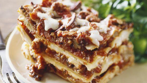 Rezept: Lasagne und grüner Salat