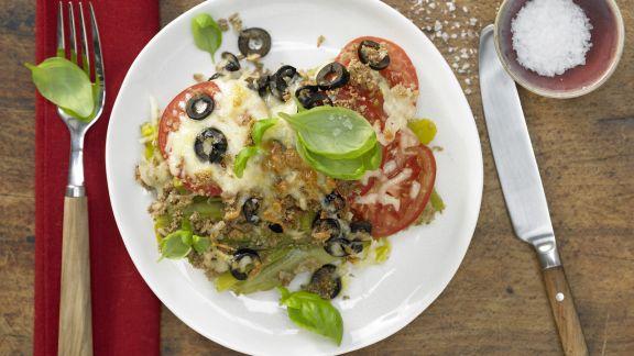Rezept: Lauch-Tomaten-Gratin
