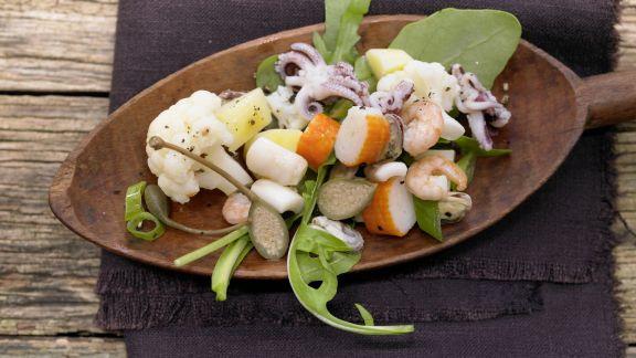 Rezept: Lauwarmer Meeresfrüchtesalat