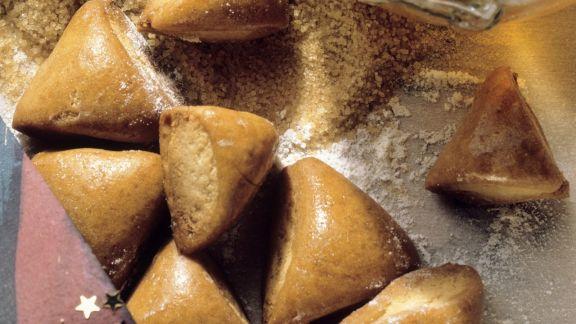 Rezept: Lebkuchen mit Marzipanfüllung (Biberle)