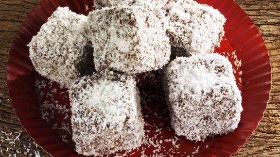 Rezept: Lebkuchenwürfel mit Kokos
