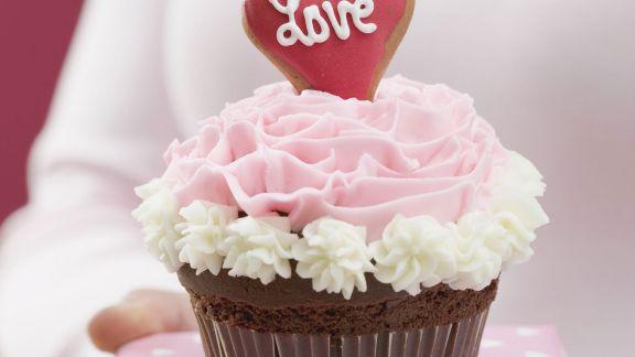 Rezept: Liebes-Cupcake