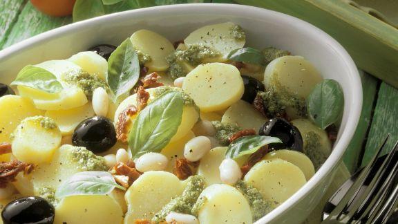 Rezept: Ligurischer Kartoffelsalat mit weißen Bohnen