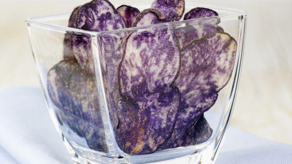 Rezept: Lila Kartoffelchips