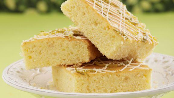 Rezept: Limettenkuchen mit weißer Schokolade
