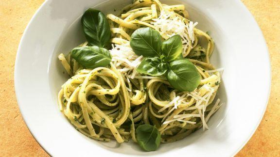 Rezept: Linguine mit Pesto verde