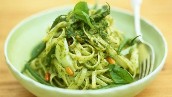 Rezept: Linguine mit Pesto