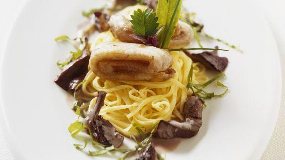 Rezept: Linguine mit Seezunge und Pilzen