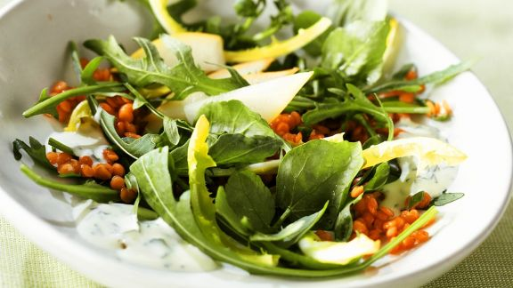 Rezept: Linsen-Blattsalat