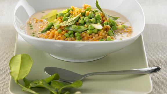 Rezept: Linsen-Curry mit Erbsen