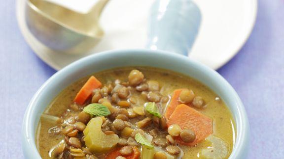 Rezept: Linsen-Gemüse-Suppe