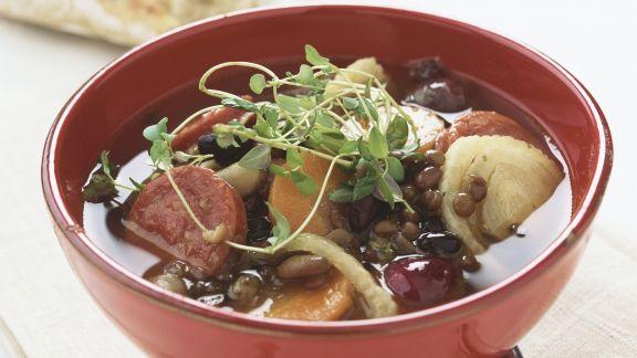 Rezept: Linsen-Karotten-Suppe mit Fenchel