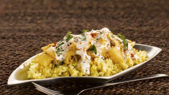 Rezept: Linsen-Reis-Gericht auf indische Art