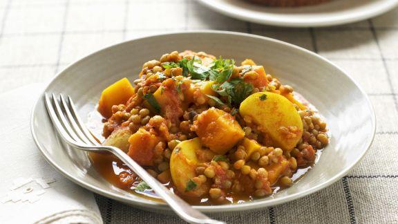 Rezept: Linsencurry mit Kartoffeln