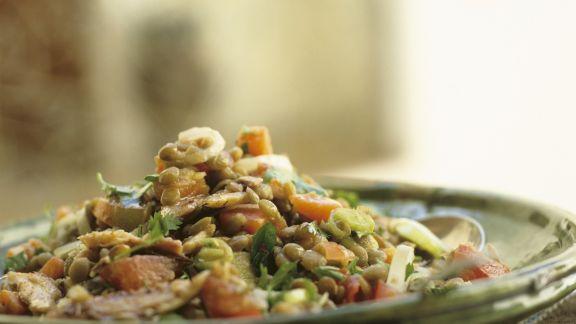 Rezept: Linsensalat mit Sardinen auf marokkanische Art