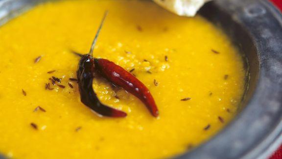 Rezept: Linsensuppe auf indische Art