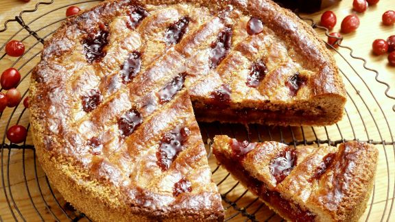 Rezept: Linzer Torte mit Cranberries