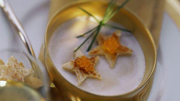 Rezept: Luftige Kartoffelsuppe zu Weihnachten