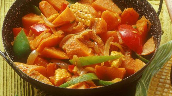 Rezept: Mais mit Süßkartoffeln