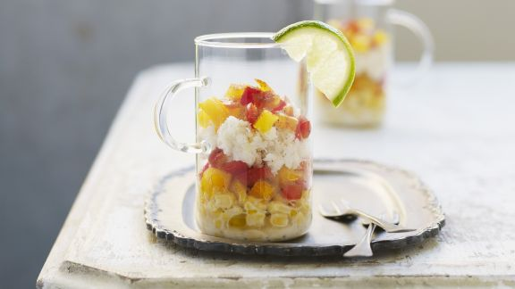 Rezept: Mais-Paprika-Salat mit Krabbenfleisch