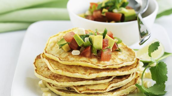 Rezept: Maispfannkuchen mit Avocado-Salsa