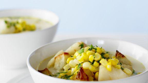 Rezept: Maissuppe mit Meeresfrüchten
