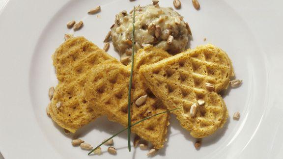 Rezept: Maiswaffeln mit Käsedip
