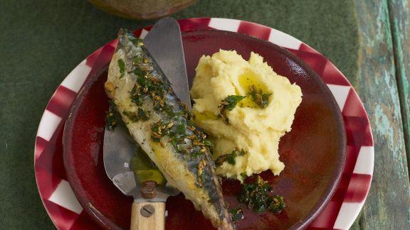 Rezept: Makrele mit Püree aus Linsen und Petersilienwurzel