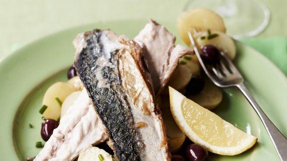 Rezept: Makrelenfilets mit Kartoffeln