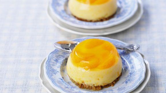 Rezept: Mandarinenpudding mit Keksboden