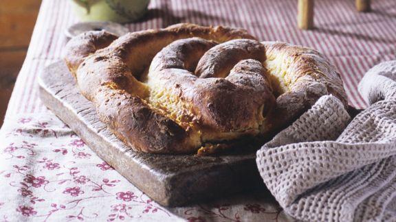 Rezept: Mandelkuchen aus Hefeteig