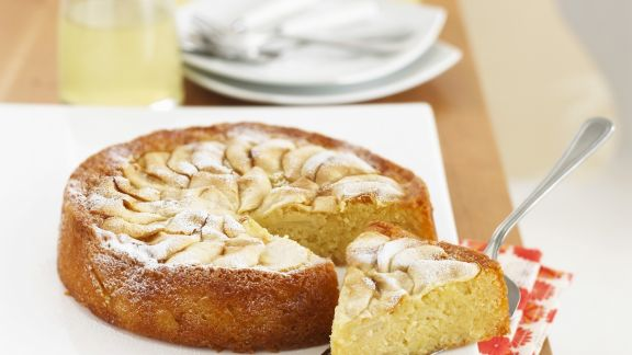 Rezept: Mandelkuchen mit Äpfeln