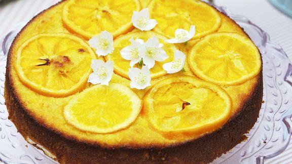 Rezept: Mandelkuchen mit Orangen