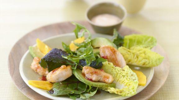 Rezept: Mango-Curry-Salat mit Hühnchen